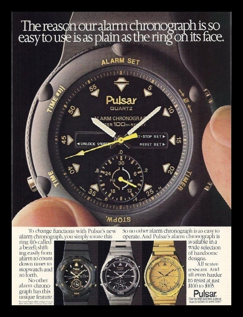 Vintage Pulsar Watch Watches