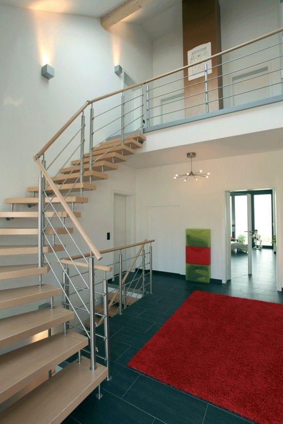 Fertighaus Wohnidee Diele Flur Und Galerie Haus Fertighauser Treppe Haus