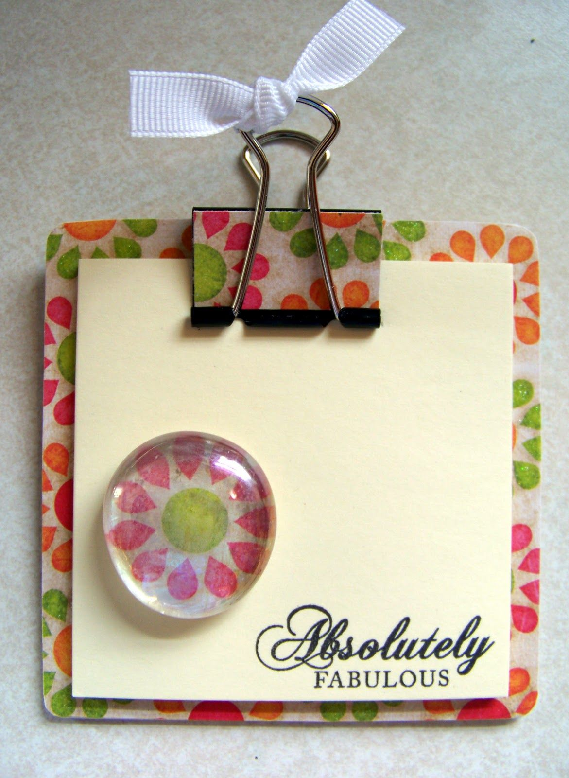Blooming where im planted craft fair items craft ideas diy co workers gift mini post it note clipboard with matching magnet solutioingenieria Choice Image