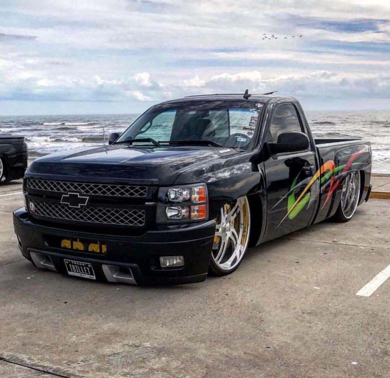 Pin By Nick Campbell On Chevrolet Silverado Gmc Sierra Chevy Trucks Dropped Trucks Lowered Trucks