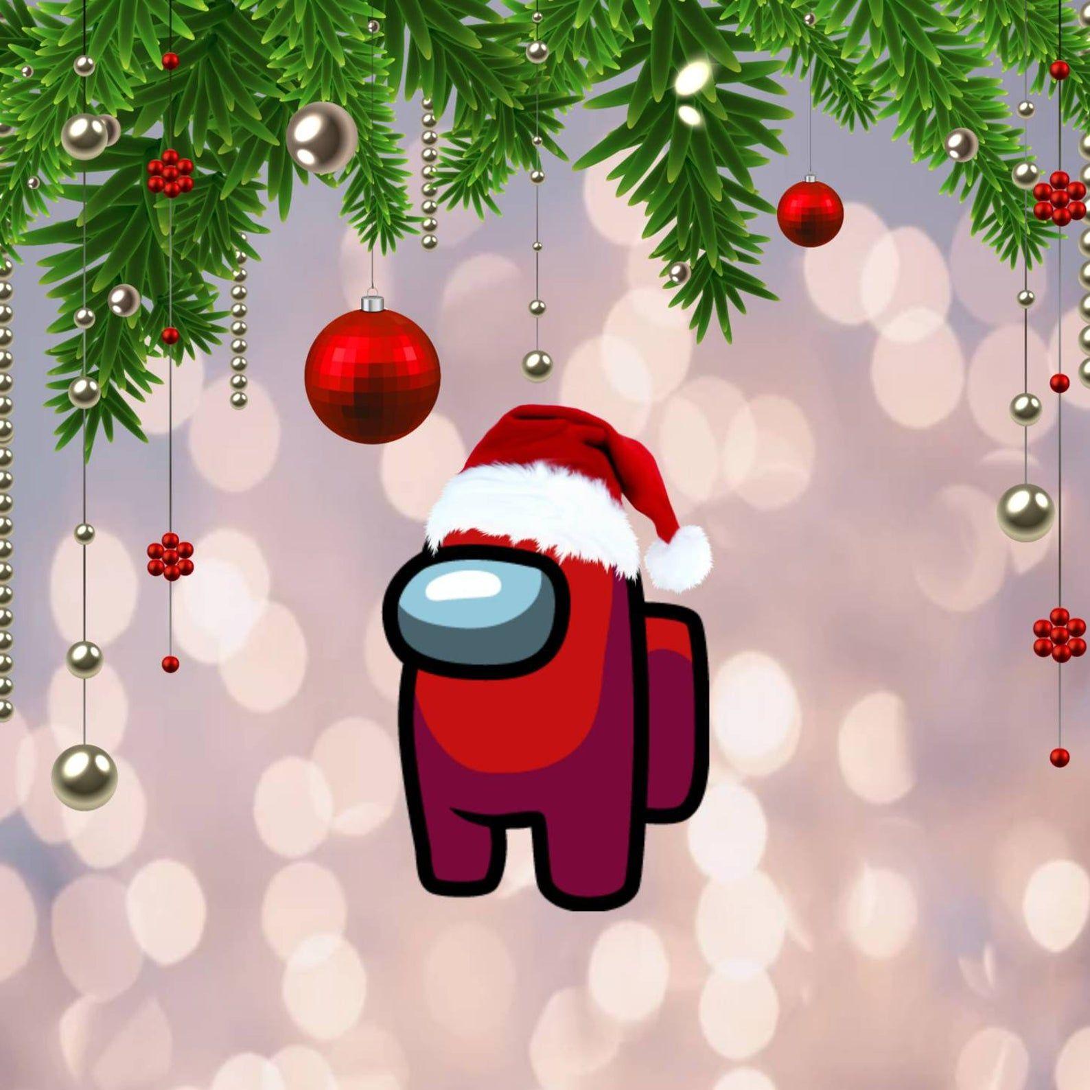 Among Us Christmas Mobile Device Background Etsy In 2021 Wallpaper Iphone Christmas Christmas Phone Wallpaper Cute Christmas Wallpaper