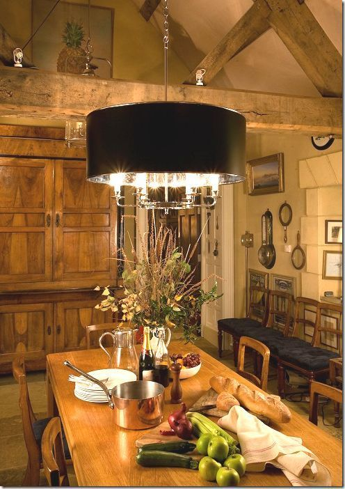 English Cottage Formal Dining Room Chandelier