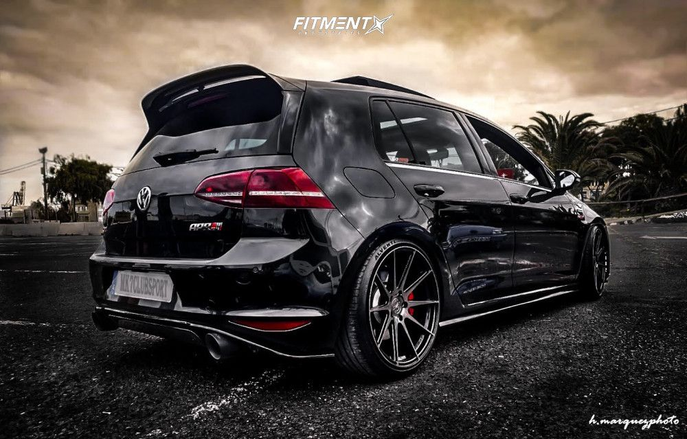 2 2017 Gti Volkswagen Sport Bc Racing Lowering Springs Vertini Rf13 Machined Black In 2020 Volkswagen Gti Gti Volkswagen