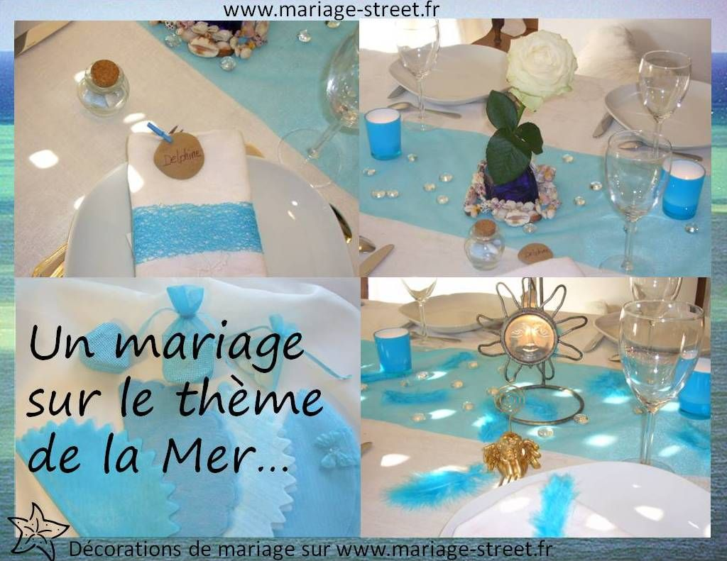 theme mariage mer et ocean mariage mer table decorations sister wedding et decor. Black Bedroom Furniture Sets. Home Design Ideas
