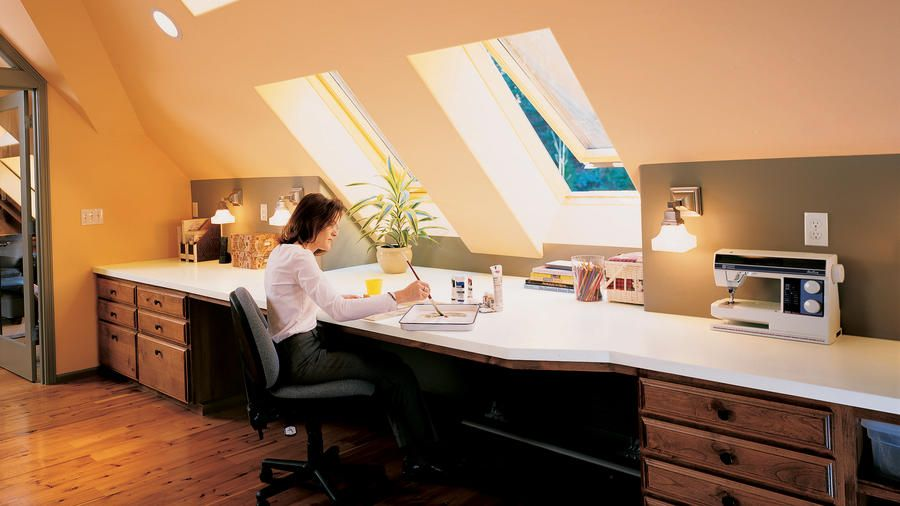 30 Cozy Attic Home Office Design Ideas Rustic Home Offices Attic Design Home Office Design