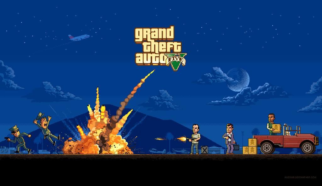Amir Mohamadrezaee On Twitter Pixel Art Grand Theft Auto Art Wallpaper