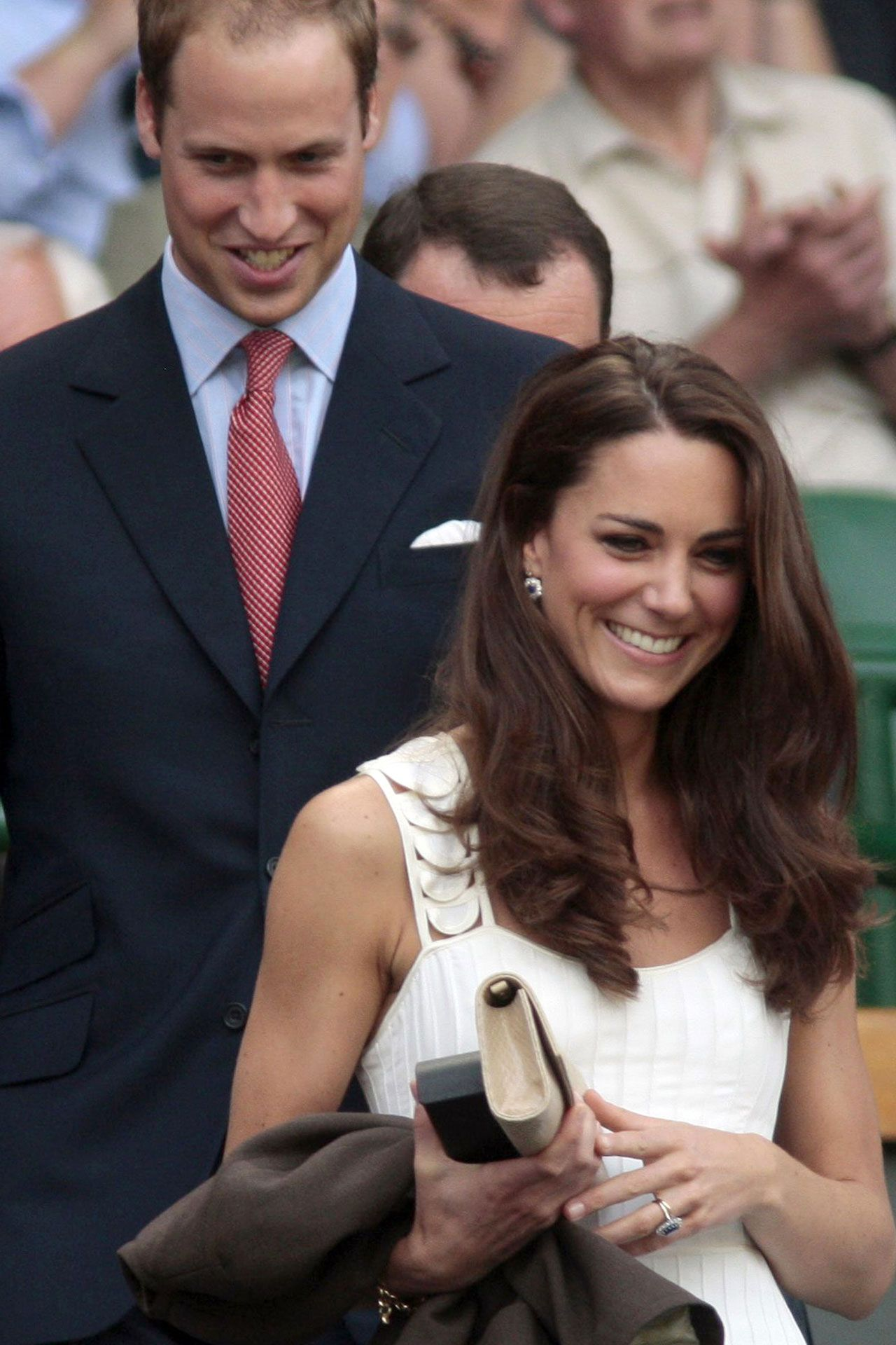 JUNE 2011 - A day at Wimbledon, Kate Middleton called for a simple, wavy style.