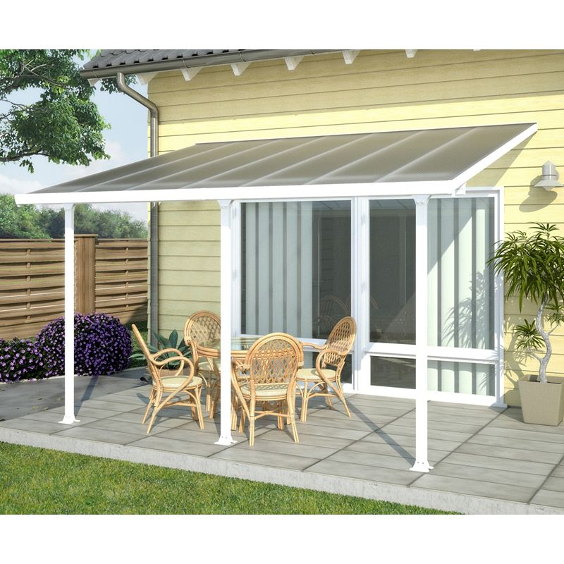 Find Suntuf 4.2 X 3m White Pergola Patio With Posts At Bunnings Warehouse.  Visit Your
