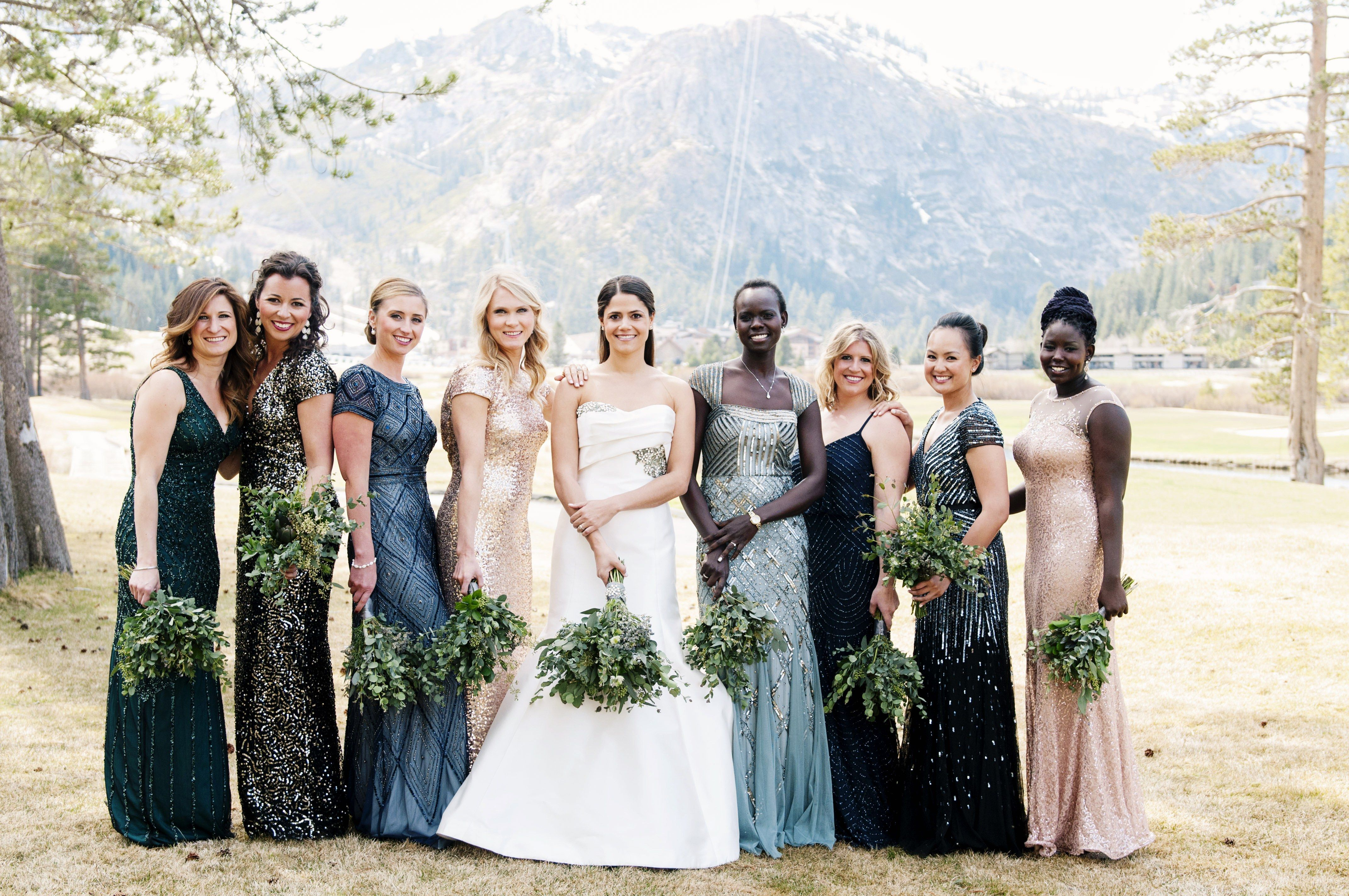 Mismatched Bridesmaid Dresses 10 Tips To Pull It Off Beautifully Different Bridesmaid Dresses Mismatched Bridesmaids Unique Bridesmaid Dresses