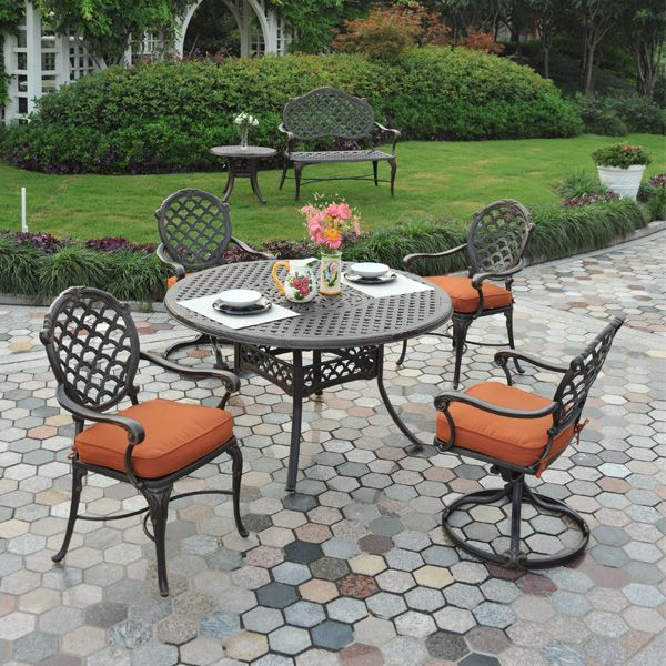 Cast Aluminum Patio Dining Set Furniture Buy Now And Save Shop The Best Selection Of Outdoor Fur Cast Aluminum Patio Furniture Outdoor Patio Furniture Patio