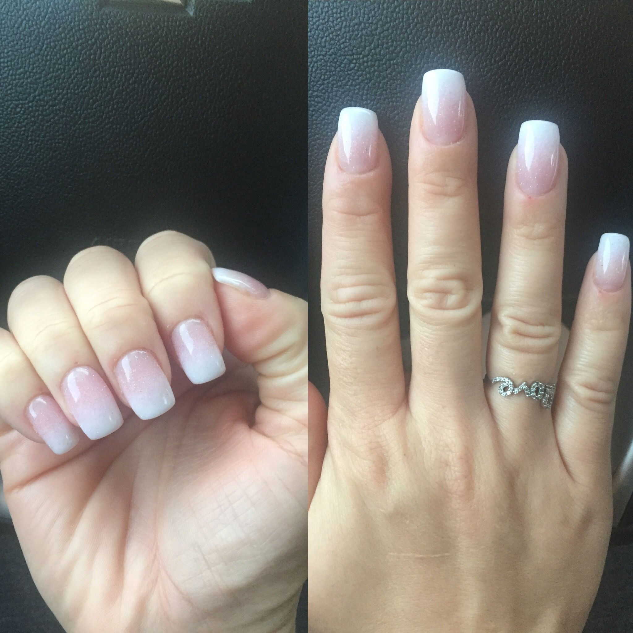 Sns Ombre Pink To White Sns Nails Colors Ambre Nails Sns Nails Designs