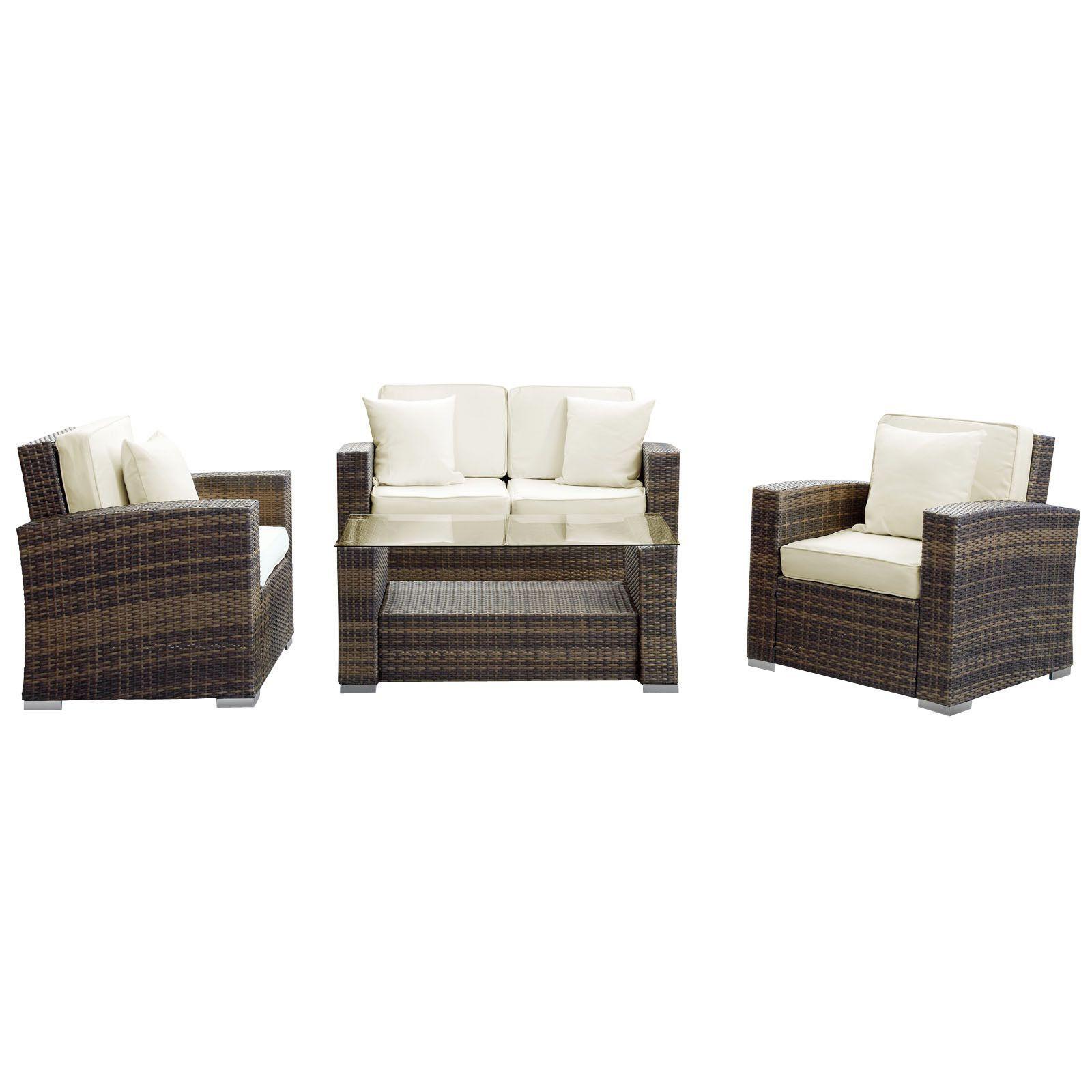 Modway Furniture Carmel 4 Piece Outdoor Patio Sofa Set