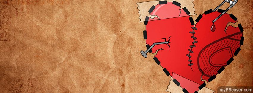 Broken Heart FB Cover From MyFBcover