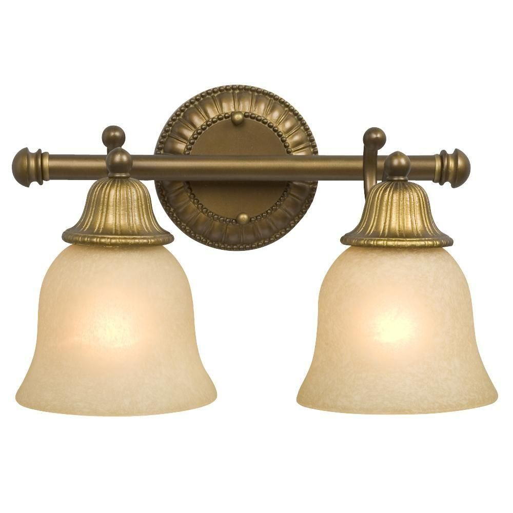 Filament Design Negron 2 Light Parisian Antique Brass Incandescent