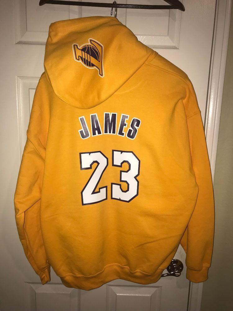 8b67c4701eba LA Los Angeles Lakers Lebron James Home Jersey Hoodie Hoody Hooded  Sweatshirt  sports  basketball  trending