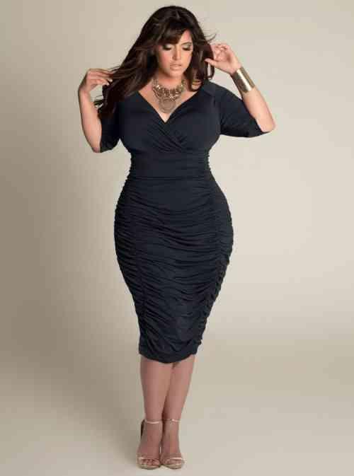 Robe noire femme ronde