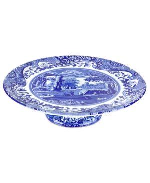Spode Dinnerware Blue Italian Hexagonal Vase Blue Dinnerware