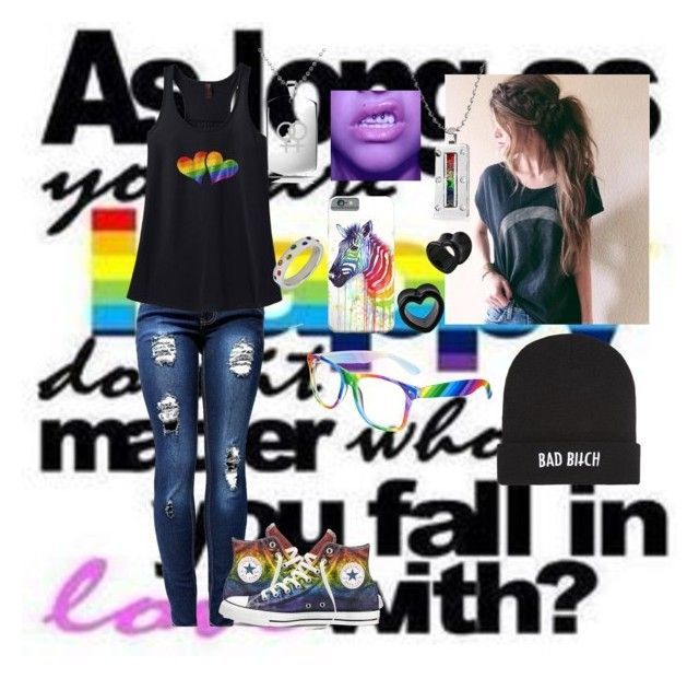 """Untitled #103"" by andliz-ortiz-matos ❤ liked on Polyvore featuring Bling Jewelry, Converse, Kill Brand and Rush Industries"