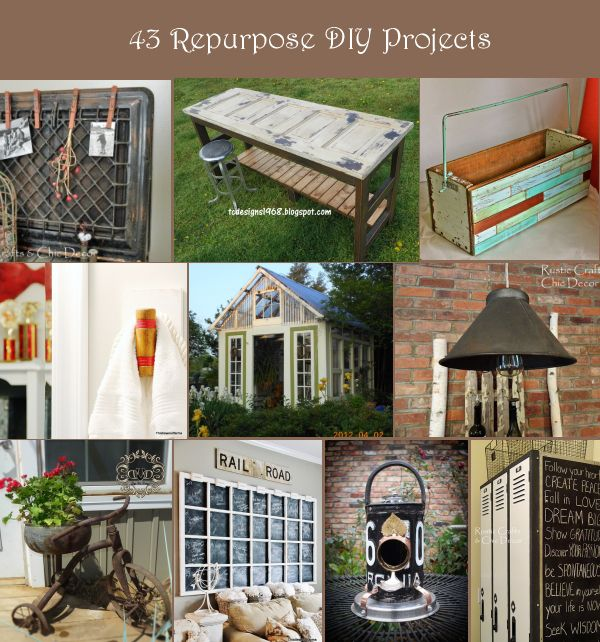 Repurposed Home Decor: Repurposed DIY Projects For Home Decor