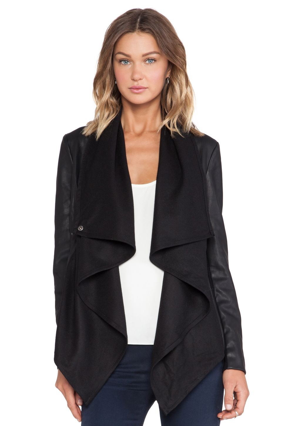 b368059ff Bardot Waterfall PU Jacket in Black | REVOLVE | Cold Weather Clothes ...