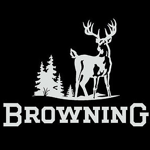 Browning Truck Window Decal White Inch Hunters Deer Buck - Hunting decals for truckshuntingfishing window decals in white or camouflage at woods