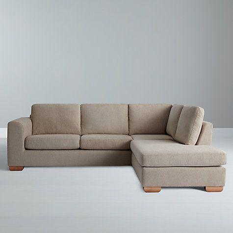 John Lewis Partners Felix Rhf Corner Chaise End Sofa With Light Legs Elena Mocha Sofa John Lewis Sofas Chaise Sofa