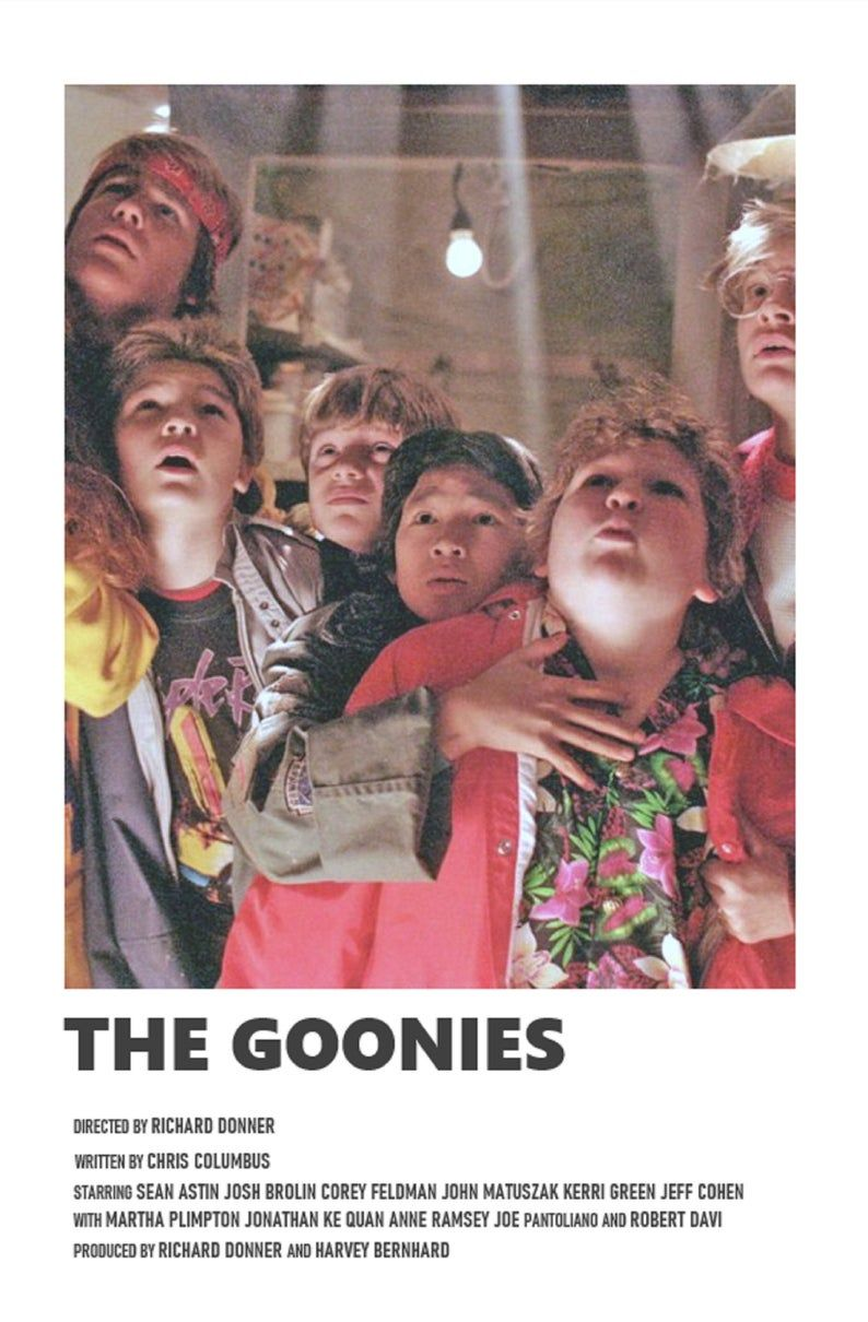 The Goonies minimal A6 movie poster   Etsy