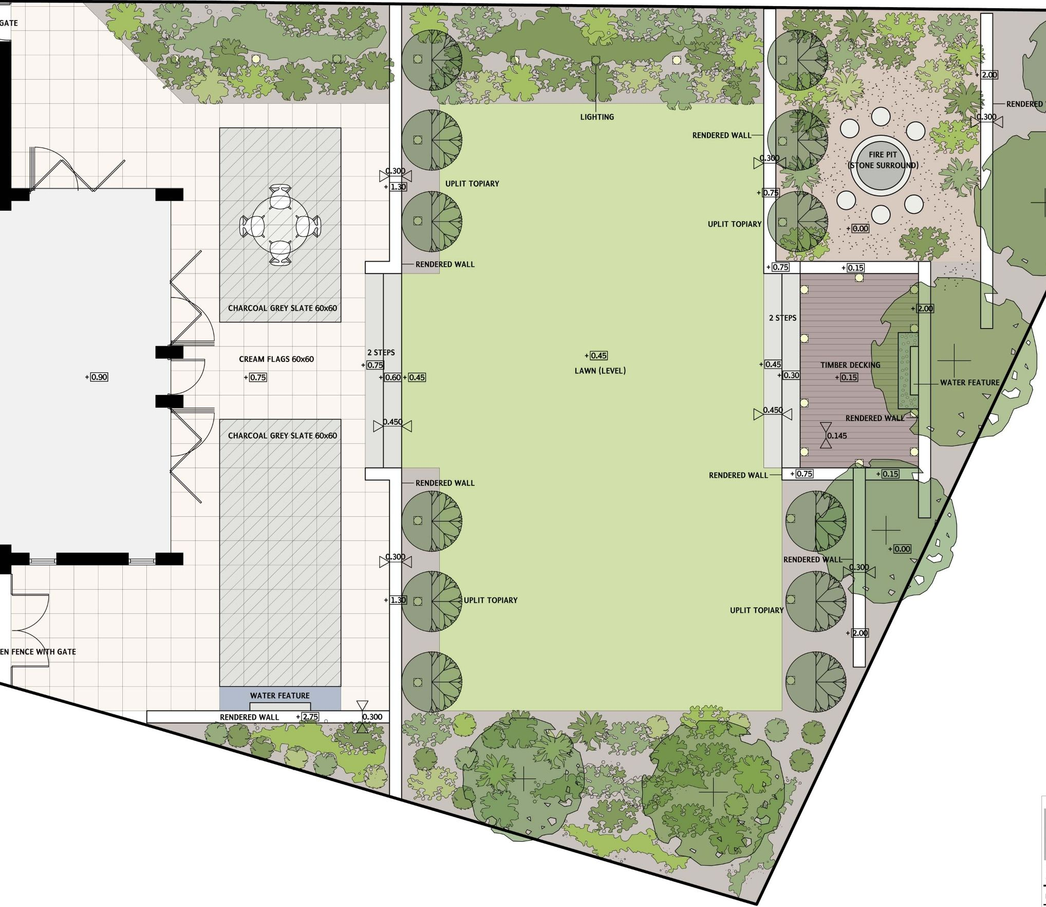 A modern garden layout Drawings and Garden Plans Pinterest