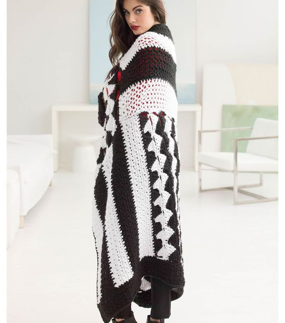 How To Crochet A Graphic Black and White Afghan | crochet home ...