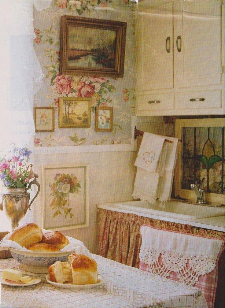 Shabby French Kitchen Kitchen/Dining Pinterest Cottage style