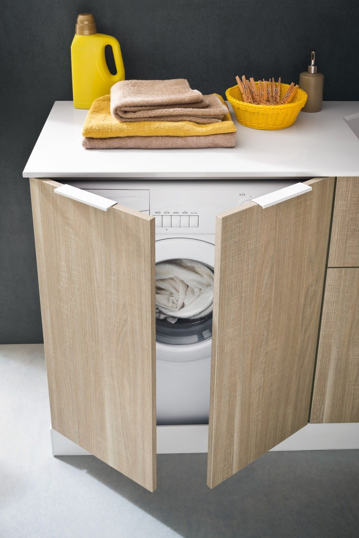 Waschmaschinenschrank Fur Badmobel Der Serie Atlantic Arredaclick Badezimmereinrichtung Ikea Waschmaschinenschrank Unterschrank Kuche