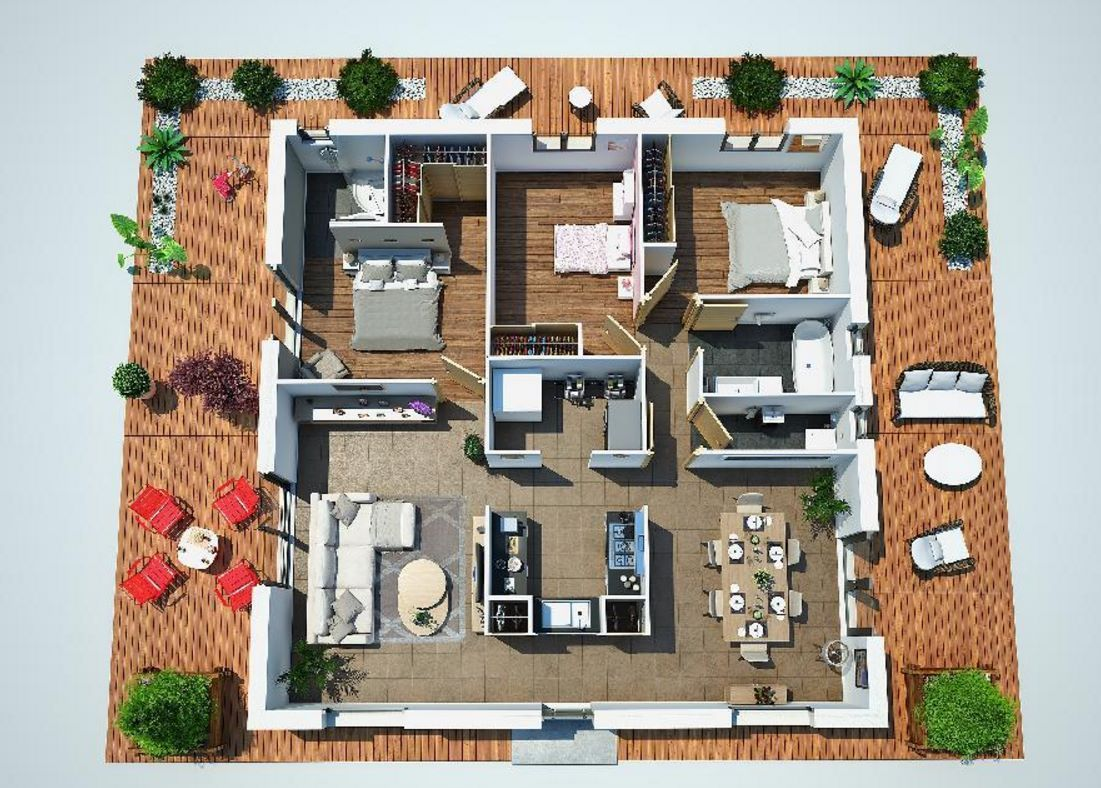 planos de casas cuadradas