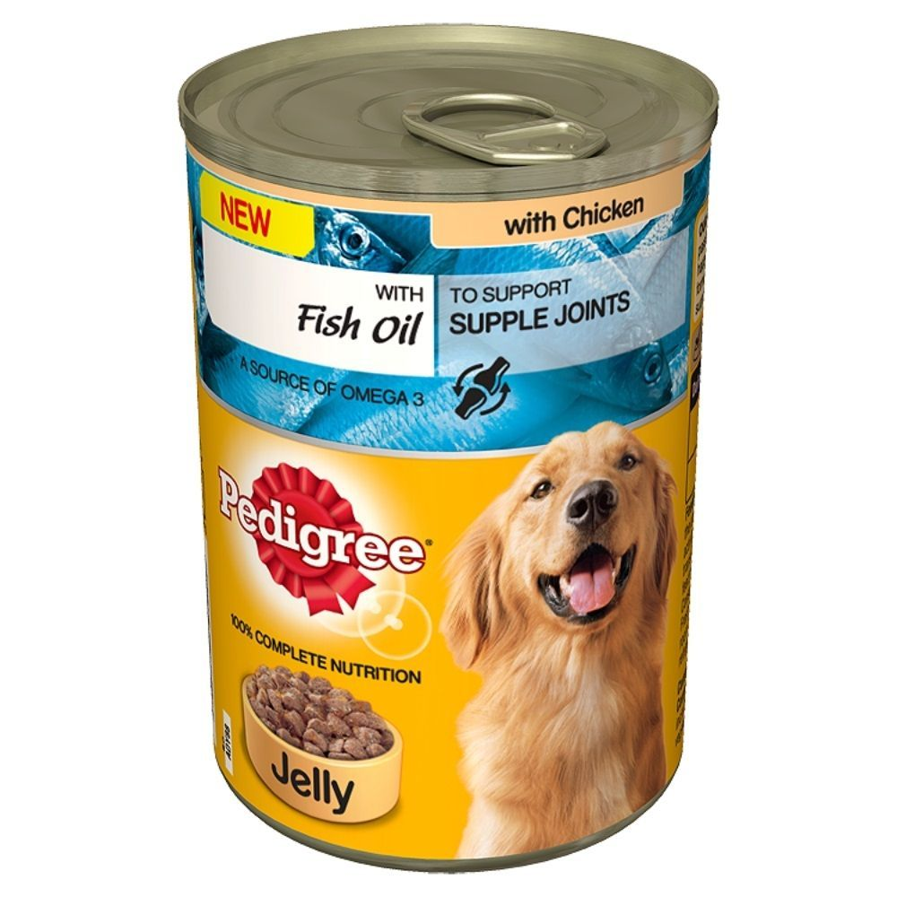 Pedigree chicken dog food with fish oil in jelly 12 x 2 x for Dog food with fish oil