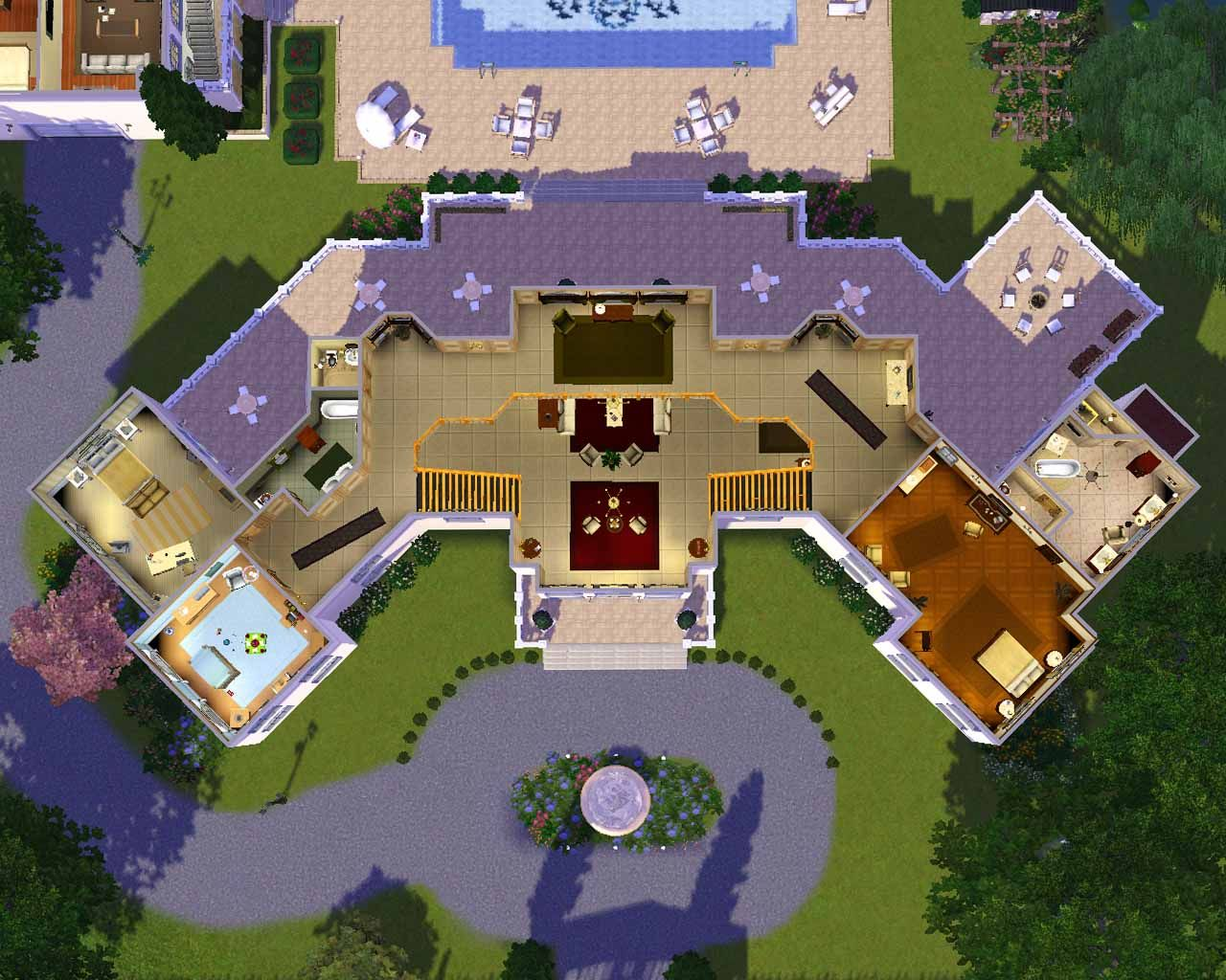 The sims 3 house designs google search idea the sims for Estate blueprints