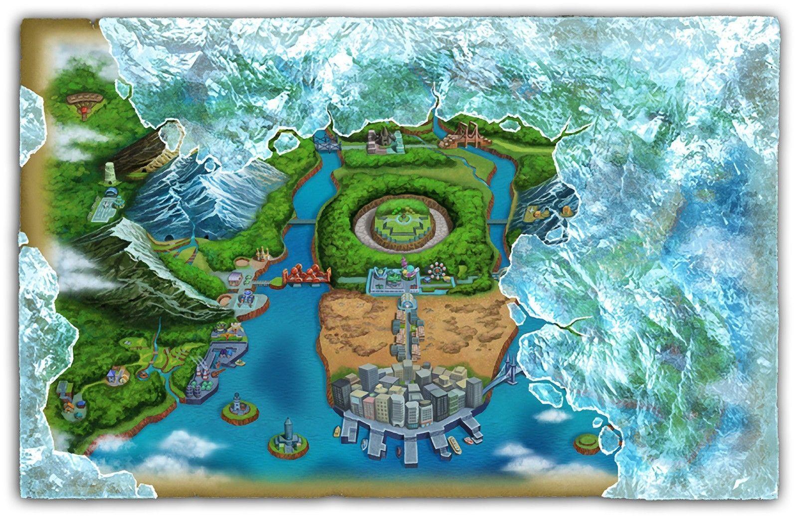 Pokemon Unova Region Map Pokemon Black And White Black Pokemon