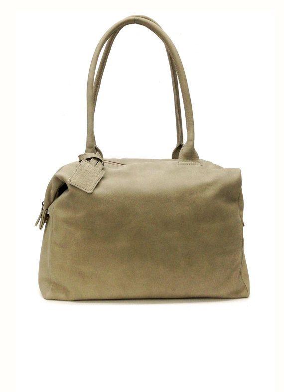 472b2c0aa9 Light Grey Leather handbag Purse leather tote bag Handmade zipper ...