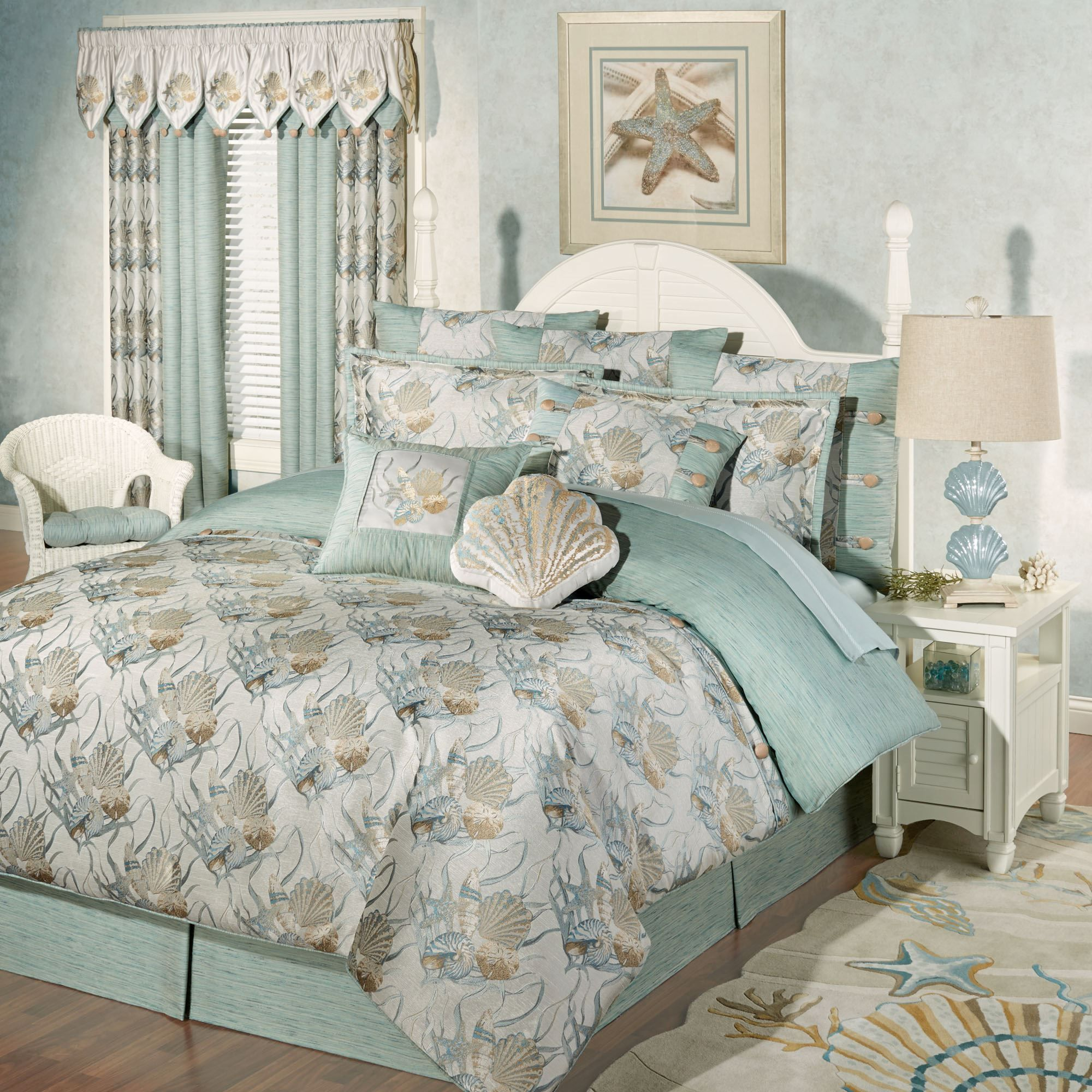 and homes image better bedding sets comforter of full design piece coloredg color medallion coastal size bed colored grey gardens coral setscoral rare