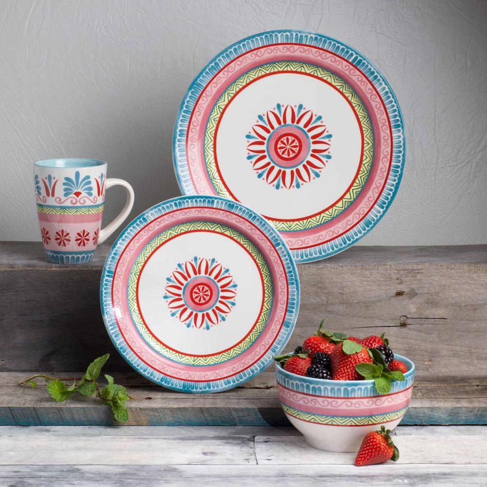 Euro Ceramica Merille 16 Piece Artisan Dinnerware Set