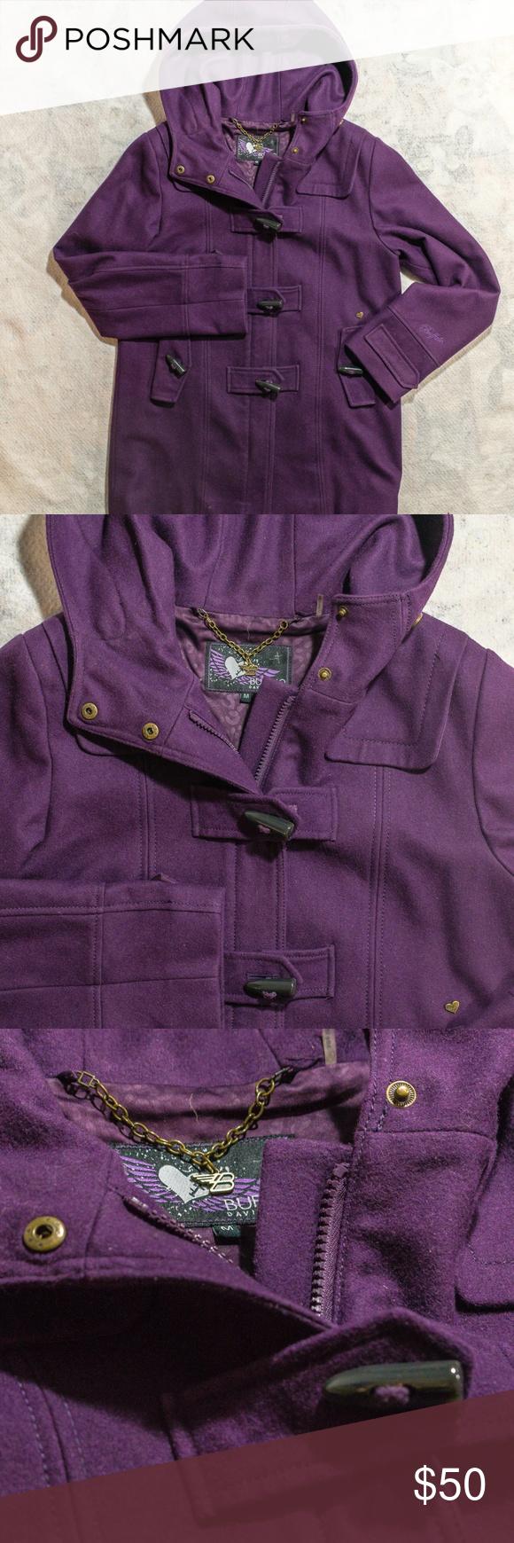 Buffalo David Bitton Wool Purple Duffle Hood Coat Clothes Design Fashion Fashion Design [ 1740 x 580 Pixel ]