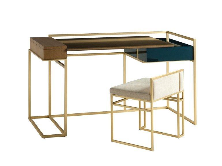 Bureau rectangulaire avec tiroirs paris paname bureau by roche