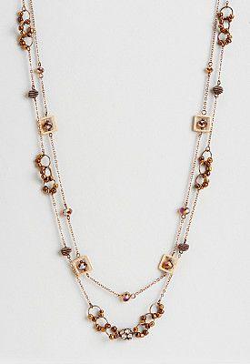 Charlene Long Copper Bead Necklace.Charlene Long Copper Bead Necklace #Christopher&Bankslove