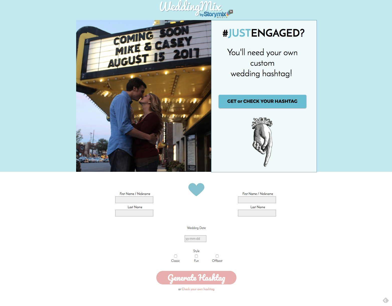 This Website Will Create a Free Wedding Hashtag in Seconds
