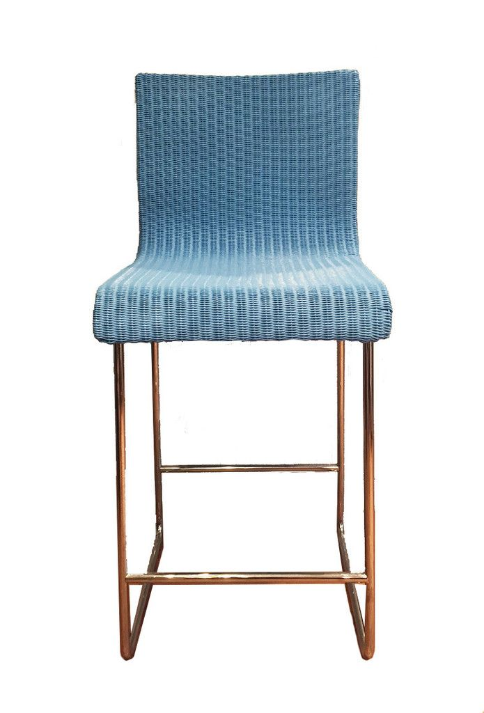 Retro Blue Woven Wire and Metal Counter Stools by Loom Italia ...