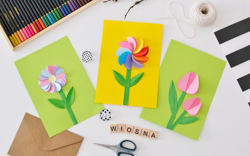 Kreatywnie Z Dzieckiem 14 Wiosenne Kwiatki Wycinanki Diy