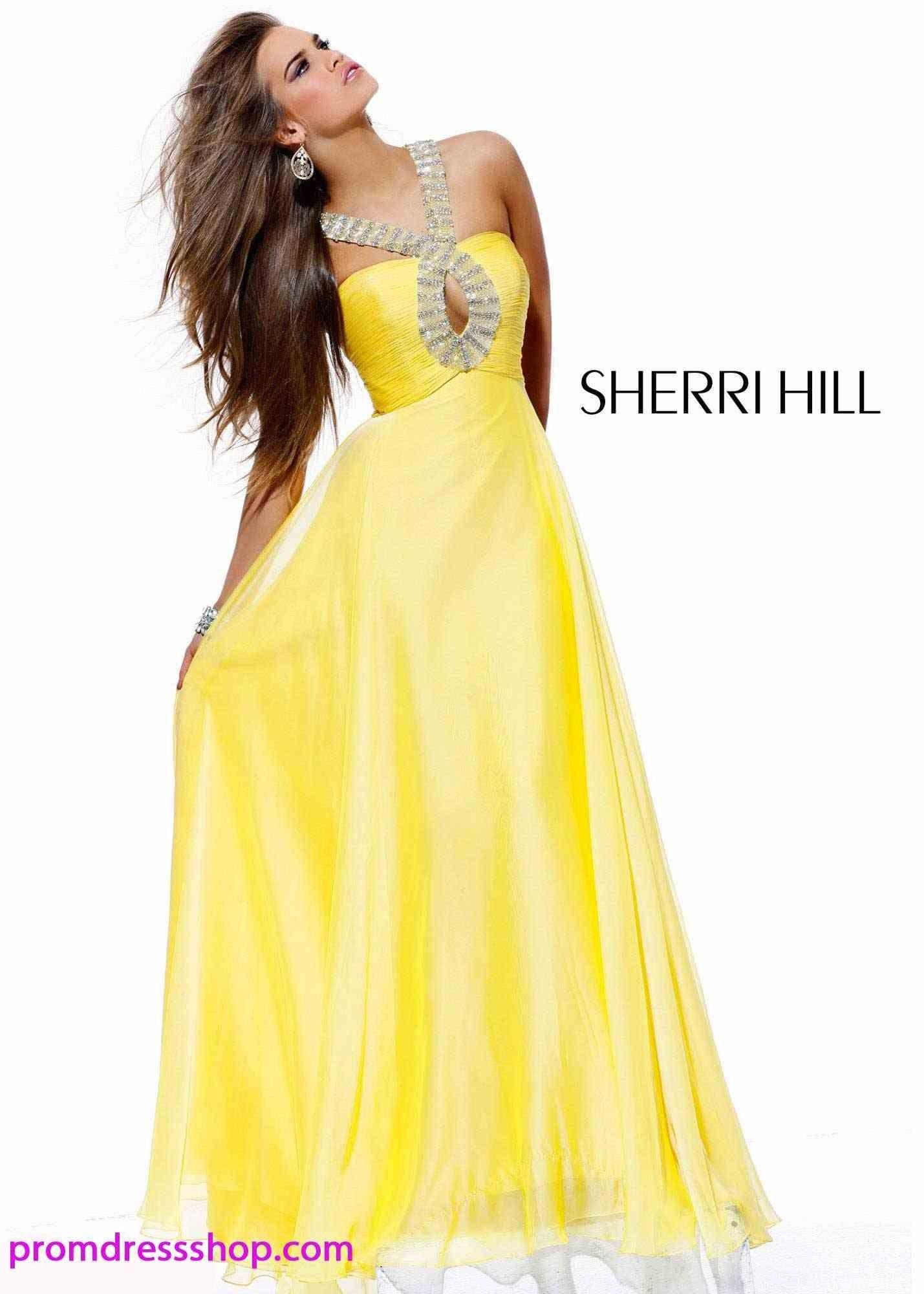 b16df596a3fb Sherri Hill yellow prom dress!!  )