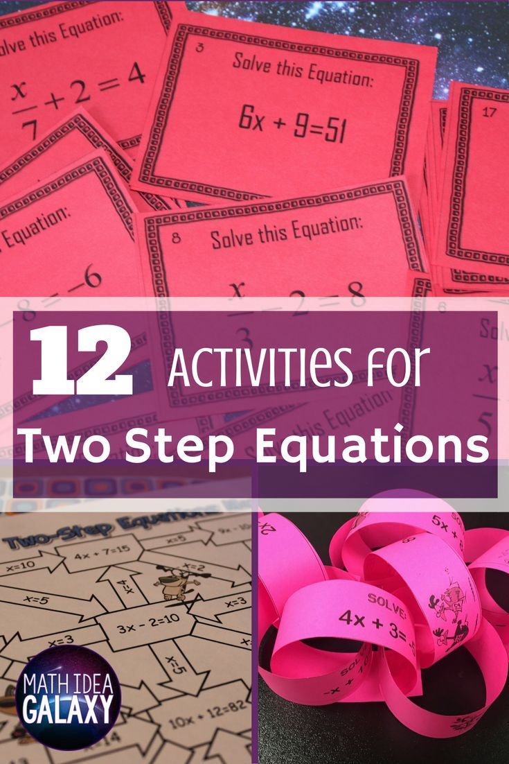 12 Activities that Make Practicing Two-Step Equations Pop | Equation ...