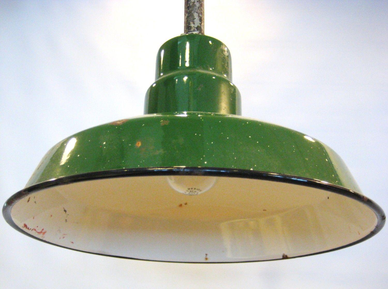 Antique green enamel metal hanging light fixture by barneche antique green enamel metal hanging light fixture by barneche aloadofball Gallery