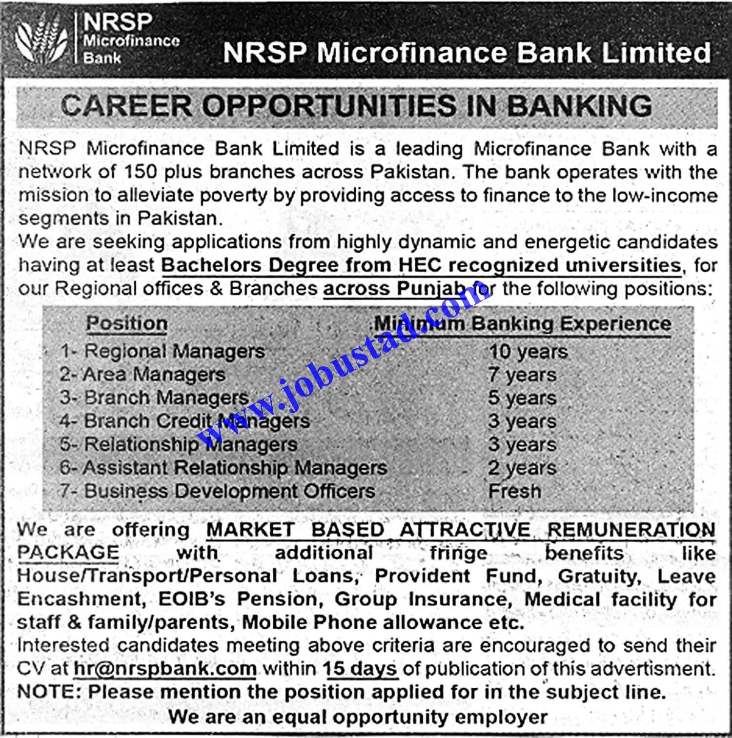 Nrsp Micro Finance Bank Limited Jobs 2020 Finance Bank Finance Job