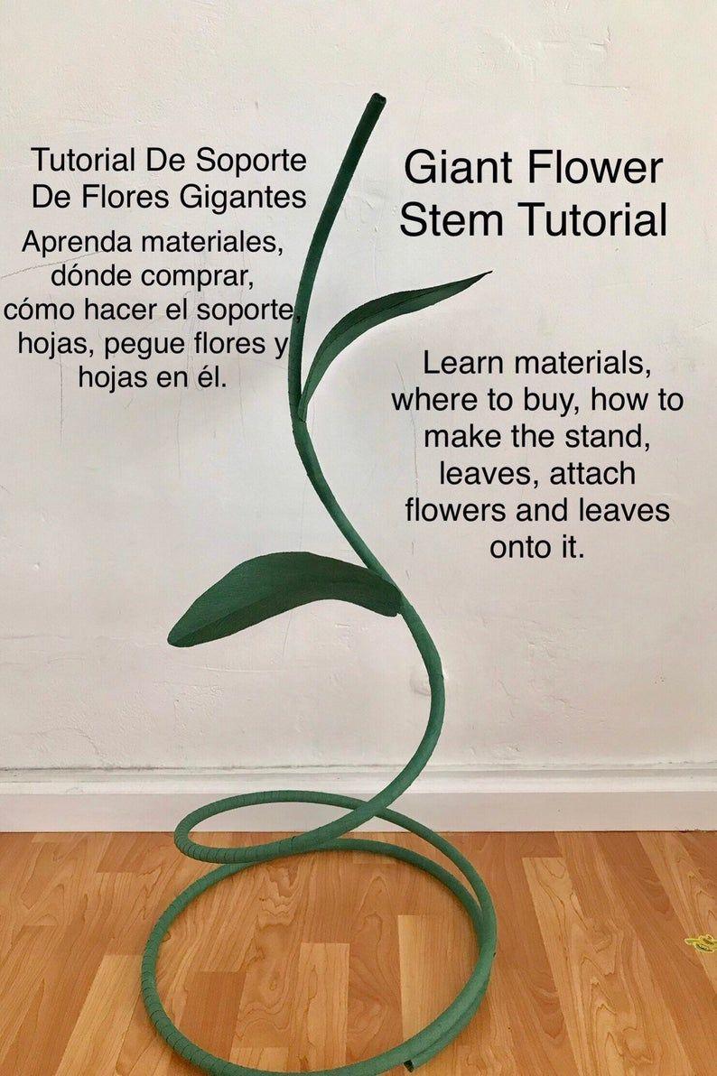 Giant Flower Stem Tutorial, DIY Large Flower Stem, Giant Paper Flower Stand, Stem for Giant Paper Flower, Free Standing Paper Flowers Stem #largepaperflowers