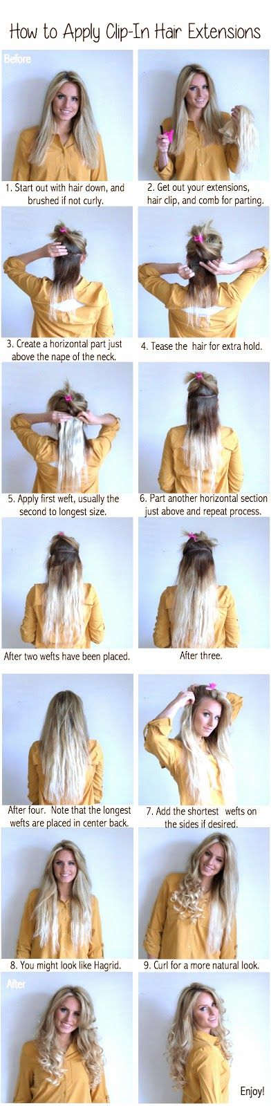 How To Apply Clip In Hair Extensions 100 Real Human Hair Healthy